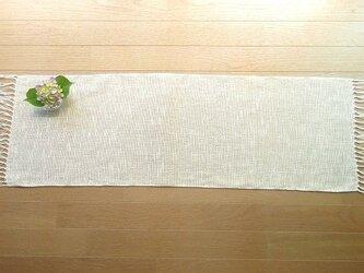 麻綿混の手織りテーブルセンターの画像
