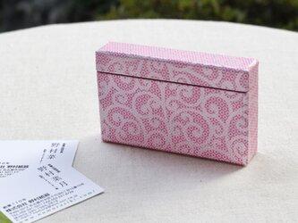 友禅紙の名刺入れ(唐草ピンク)の画像