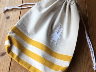 体操服袋黄色※持ち手無しタイプ(定形外送料無料)の画像