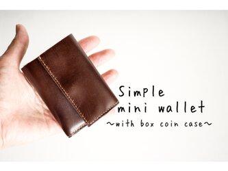 ☆受注制作☆総手縫いのカーフの三つ折り財布~✨チケットポケットカスタマイズ可能✨の画像