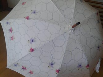 日傘 わらべが三人の画像