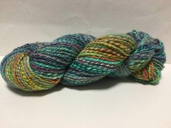 【手紡ぎ糸(スピンドル)の販売です✨】  メリノウール 95gの画像