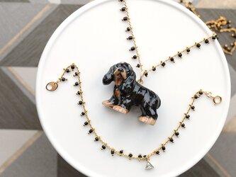 コッカースパニエルのネックレス&ブレスレットの画像