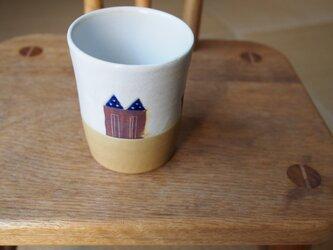 house模様のカップの画像