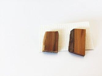 カケライヤリング 革つきの画像
