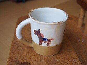 馬のコーヒーカップの画像