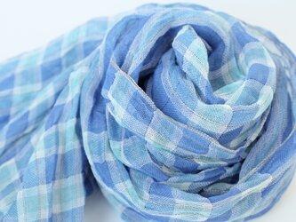 手織りリネンストール【琉風*06】の画像
