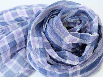 手織りリネンストール【琉風*10】の画像