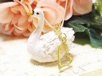 白鳥ハートMIXネックレス★ゴールドガーリー☆の画像