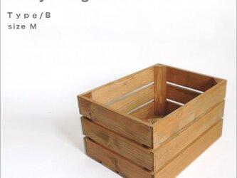 *リサイクルウッドボックス* type/B sizeM 木箱 収納 アンティーク ウッドボックス 小物入れ キャンプ アウトドアの画像