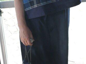 久留米絣と古布のパッチワークトップスの画像