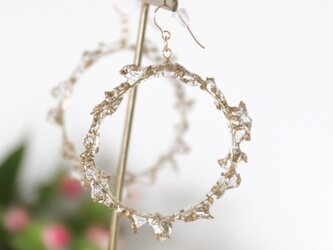 crown of baby's breath -gold-(ピアス)【14kgf】 #357の画像