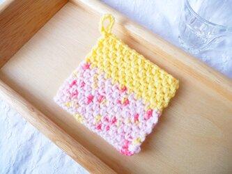 ストロベリーミルクカスタード  かぎ針編みのコースター (8)の画像