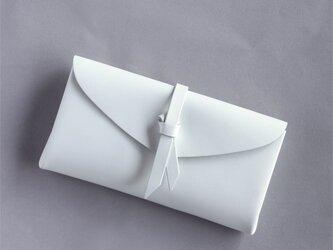折りロングウォレット マグネットver#白 / ori long wallet #whiteの画像