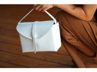 2way leather box bag / 2way レザーボックスバッグ #whiteの画像