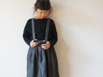 +sample+ Wool linen dungaree tuck skirt 120sizeの画像