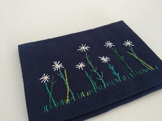移動ポケット マーガレット刺繍の画像
