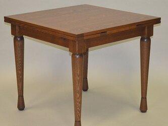 ドローリーフテーブル タモの画像
