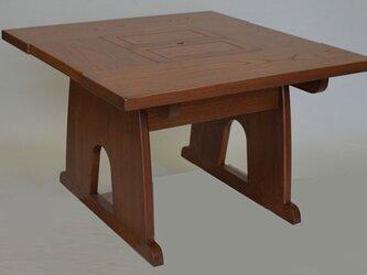 囲炉裏テーブル オーダーメイド 欅の画像