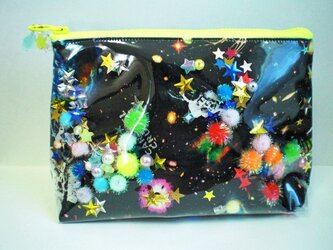 A様ご注文品 宇宙のポーチの画像