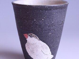 アニマルタンブラー(文鳥)の画像