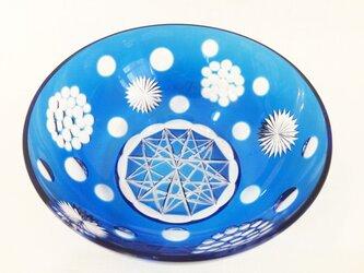 切子菓子鉢 宇宙(そら)の画像