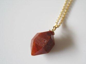 レッドクォーツの原石ネックレス /赤鉄石英/Spain 14kgfの画像