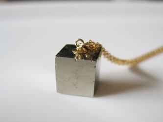 パイライトの原石ネックレス/Cube/Spain 14kgfの画像
