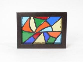 ステンドグラスパネル モザイク柄 ミニパネルの画像