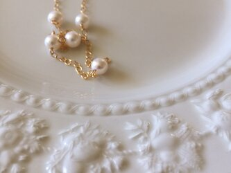 14kgf fresh water pearl necklaceの画像