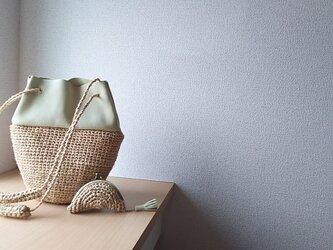 マダガスカル産ラフィアと本革の3way巾着かごバッグ(wakakusa)『夏の福袋セット』の画像