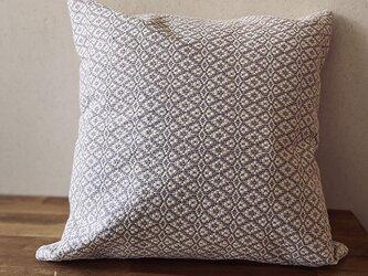 [再販]cushion cover[手織りクッションカバー] グレーの画像