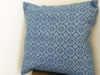 cushion cover[手織りクッションカバー] ブルーの画像