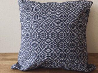 [再販]cushion cover[手織りクッションカバー] ブルーの画像