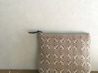 pouch[手織り小さめポーチ]ベージュの画像