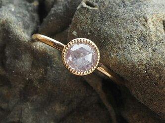 ナチュラルピンクラウンドダイヤモンドリングの画像