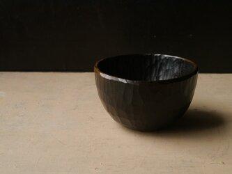 椀120黒拭き漆 #0175_3の画像