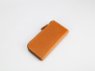 【切線派】【選べるステッチ】牛革手作りL字ファスナー長財布の画像