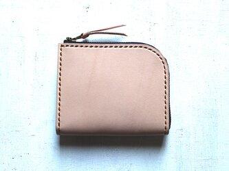 【受注生産品】L字ファスナー小さい財布 ~栃木ヌメ~の画像