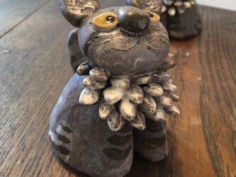 メインクーンの置き物 ネコ ねこ 猫 陶器 王さま の画像
