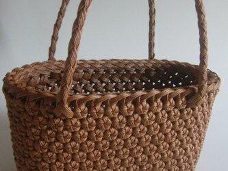 Y様予約品 「花結び編みのてさげかご」の画像