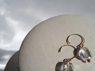 14kgf 宝石クリスタルクォーツ ピアスの画像