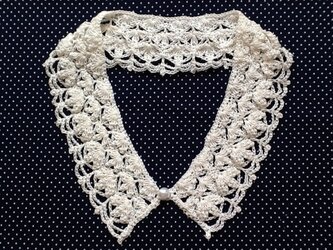 レース編み*つけ襟の画像
