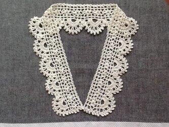 レース編み*つけ襟ロングの画像