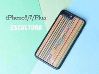 iPhoneケース アイフォンケース スケートボード 木製 木目 高品質 木製ケース iPhone8/7/Plusの画像