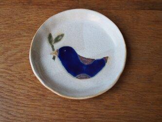 青い鳥の小皿の画像