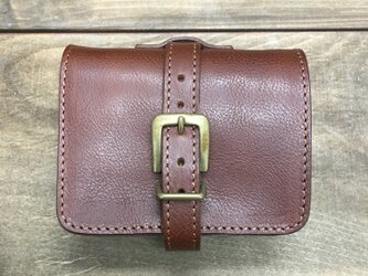 SALE! 装飾ベルトがかわいいお財布です ブラウンの画像
