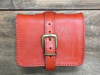 SALE! 装飾ベルトがかわいいお財布です オレンジの画像