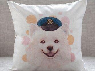 クッションカバー ドッグ スピッツ ポリス 北欧デザイン jubileecushionai016の画像
