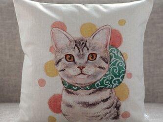 クッションカバー アメリカンショートヘアー フロシキ  猫 北欧デザイン jubileecushionai008の画像